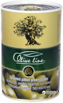 Оливки отборные без косточки Olive Line 420 г (8436024293753)
