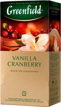 Чай пакетированный Greenfield Vanilla Cranberry  25 x 1.5 г (4823096802404)