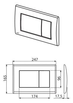 Панель смыва ALCA PLAST M271 хром/глянец