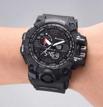 Чоловічі годинники SANDA PANARS BLACK (4405)