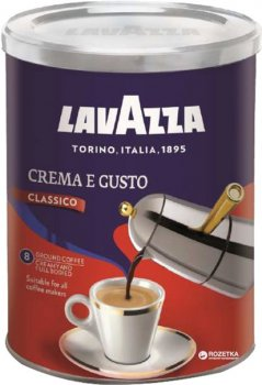Кофе молотый Lavazza Crema&Gusto 250 г (8000070038820)