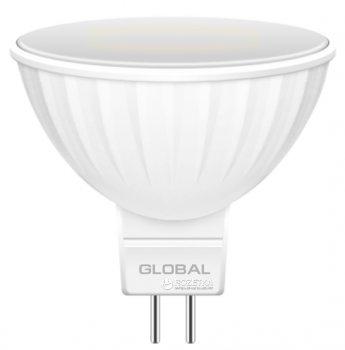 Світлодіодна лампа Global MR16 3W 3000K 220V GU5.3 (1-GBL-111)