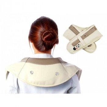 Массажер Cervical для плеч и шеи с ударно-кулачковым механизмом 38 режимов Бежевый (M-38-W)