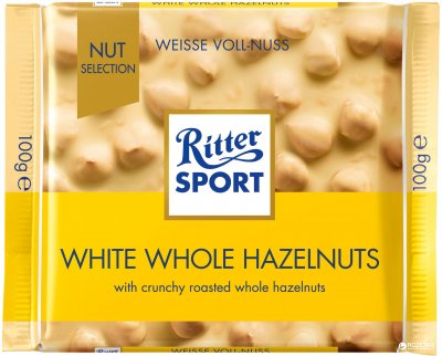 Шоколад Ritter Sport Nut Selection Белый с цельными лесными орехами 100 г (4000417701008)