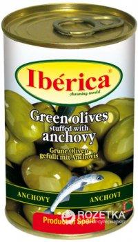 Оливки зеленые с анчоусами Iberica 300 г (8436024292336)
