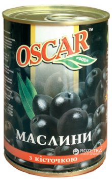Маслины черные с косточкой Oscar 300 г (8436024293395)