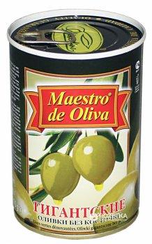 Оливки зеленые гигантские без косточки Maestro de Oliva 420 г (8436024292787)