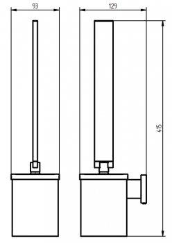 Йоршик для унітазу HACEKA Edge (403319)