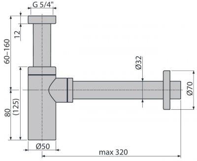 Сифон для раковины ALCA PLAST A400 (8594045937589)