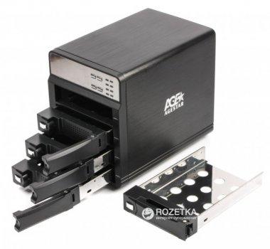 """Зовнішня кишеня Agestar для HDD 3.5"""" USB3.0/4xeSATA (3C4B3A1 (Black))"""