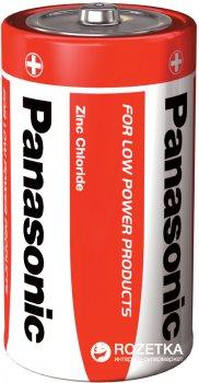 Батарейки Panasonic Red Zink угольно-цинковые D (R20) блистер, 2 шт (R20REL/2BPR)