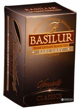 Чай чорний в пакетиках Basilur Обрана класика Ерл Грей 20 шт х 2 г (4792252001114)