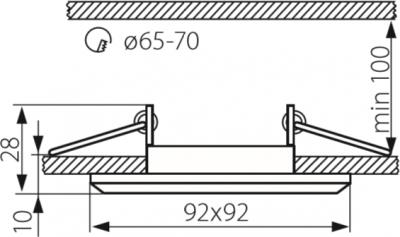 Світильник точковий Kanlux Morta CT-DSL50-SR (18512)