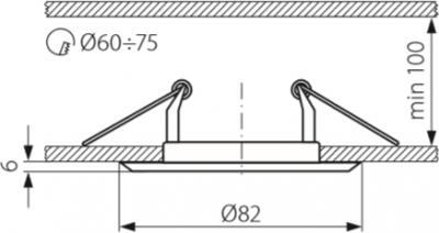 Світильник точковий Kanlux CTC-3114-SN/G Horn (2820)