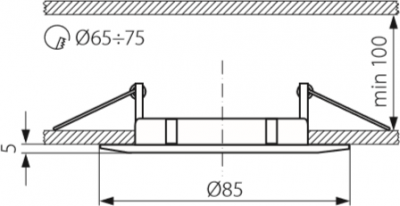 Світильник точковий Kanlux CTX-DS02B-W Luto (2580)