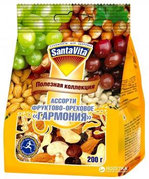 Суміш горіхи з родзинками Гармонія SantaVita Корисна колекція 200 г (4820061500716)