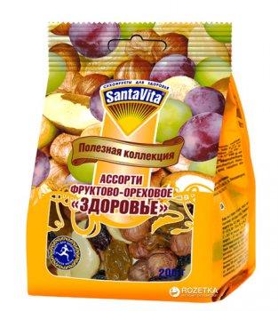 Суміш горіхи з родзинками Здоров'я SantaVita Корисна колекція 200 г (4820061502208)