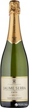 Вино ігристе Cava Jaume Serra Brut біле брют 0.75 л 11.5% (8411277205654)