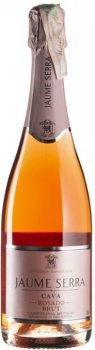 Вино ігристе Cava Jaume Serra Brut Rosado рожеве брют 0.75 л 11.5% (8411277205692)