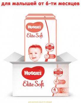 Підгузки Huggies Elite Soft 4 8-14 кг 132 шт (5029054566220)