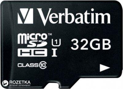 Verbatim Premium MicroSDHC 32GB Class 10 + SD-адаптер (44083)