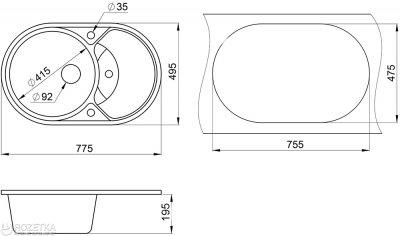 Кухонна мийка Minola MOG 1160-78 Графіт