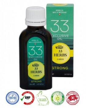 Натуральное швейцарское Эфирное масло 33 травы Strong VIVASAN Original 50 мл концентрат 100% GMP Certified