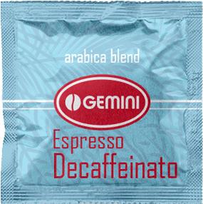 Кофе молотый в чалдах Gemini Espresso Decaffeinato 100 x 7 г (4820156430508)