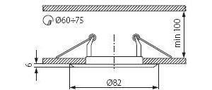 Світильник точковий Kanlux CTC-3114-PS/G Horn (KA-2822)