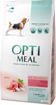Сухий повнораціонний корм Optimeal для собак середніх порід зі смаком індички