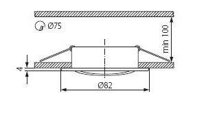 Світильник точковий Kanlux CTC-5515-C/M Vidi (KA-2783)