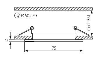 Світильник точковий Kanlux CTX-DS10-SN Navi (KA-4695)
