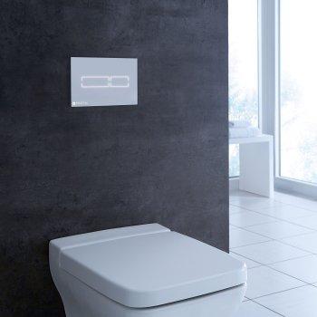 Панель смыва TECE TECElux Mini сенсорная Glass White 9240960