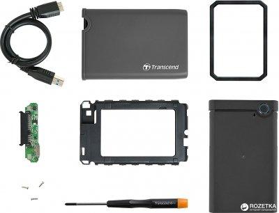 """Внешний карман Transcend StoreJet 25CK3 для 2.5"""" HDD/SSD USB 3.1 (TS0GSJ25CK3)"""