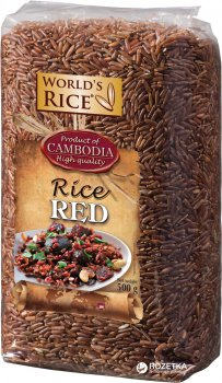 Рис World's Rice Красный 500 г (4820009102132)