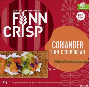 Сухарики Finn Crisp Coriander ржаные с кориандром 180 г (6437005050251)
