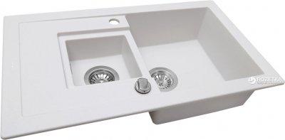 Кухонна мийка PERFELLI Pierra PGP 536-78 White