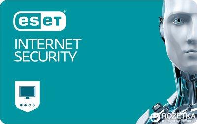 Антивірус ESET Internet Security (2 ПК) ліцензія на 1 рік Продовження