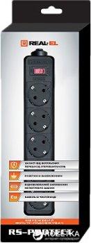 Сетевой фильтр-удлинитель Real-El RS-Protect 5 м Black