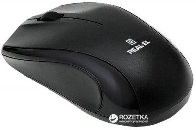 Миша Real-El RM-250 USB + PS/2 Black