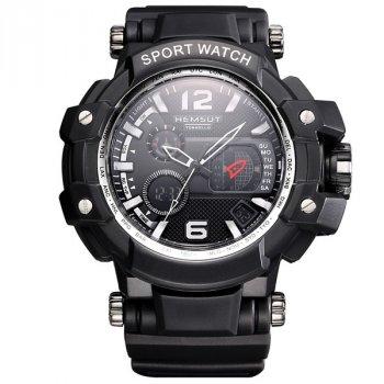 Чоловічі годинники Hemsut Sport New Black+ подарункова коробочка