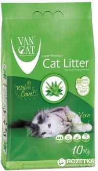 Наполнитель для кошачьего туалета Van Cat Super Premium Quality Aloe Vera Бентонитовый комкующий 10 кг (12 л) (8699245856262)