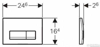 Панель смыва GEBERIT Delta 51 белый 115.105.11.1