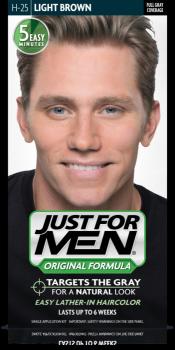 Краска для волос мужчин JUST FOR MEN (H25) - Светлый коричневый 66 мл.