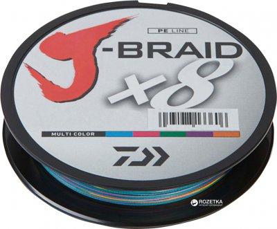 Шнур Daiwa J-Braid X8 46.5 кг 0.42 мм - 300 м Multi Color (12755-142)
