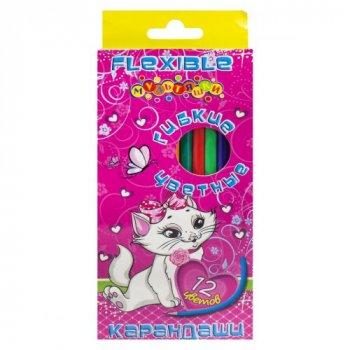 Карандаши цветные Кошка BBMTOYS 12 цветов 7208 (112573)