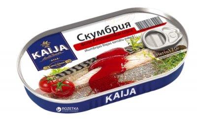 Скумбрия филе в томатном соусе Kaija 170 г (4751007730907)