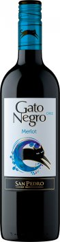 Вино Gato Negro Merlot красное сухое 0.75 л 13% (7804300120603)