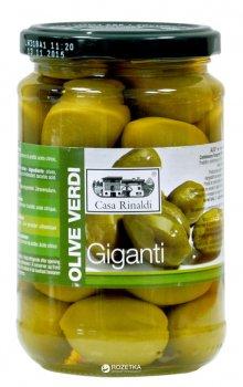 Оливки зелені з кісточкою Casa Rinaldi Bella di Cerignola гігантські 310 г (8006165388825)