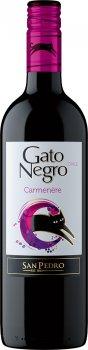 Вино Gato Negro Carmenere красное сухое 0.75 л 13-14% (7804300122805)